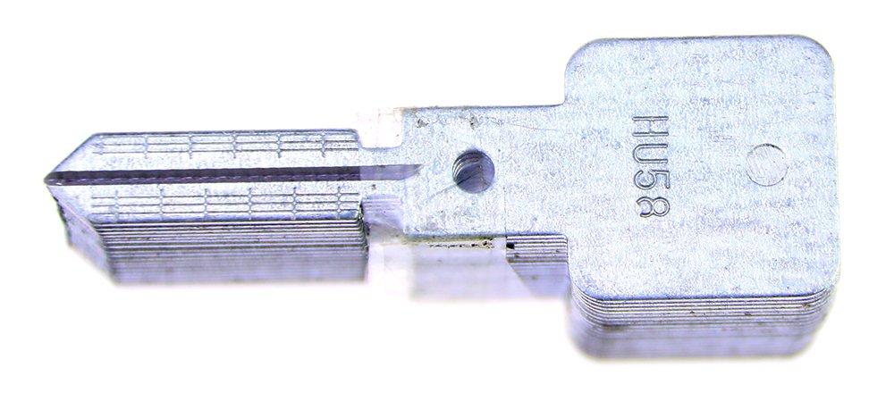 DBH Lishi 2-en-1 herramienta de selecci/ón y decodificador de coches Auto Lock Pick Set herramienta profesional de cerrajer/ía HU58