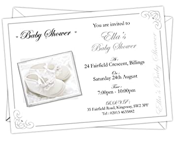 Personalised baby shower invitations bsi 005 pack of 12 amazon personalised baby shower invitations bsi 005 pack of 12 filmwisefo Image collections