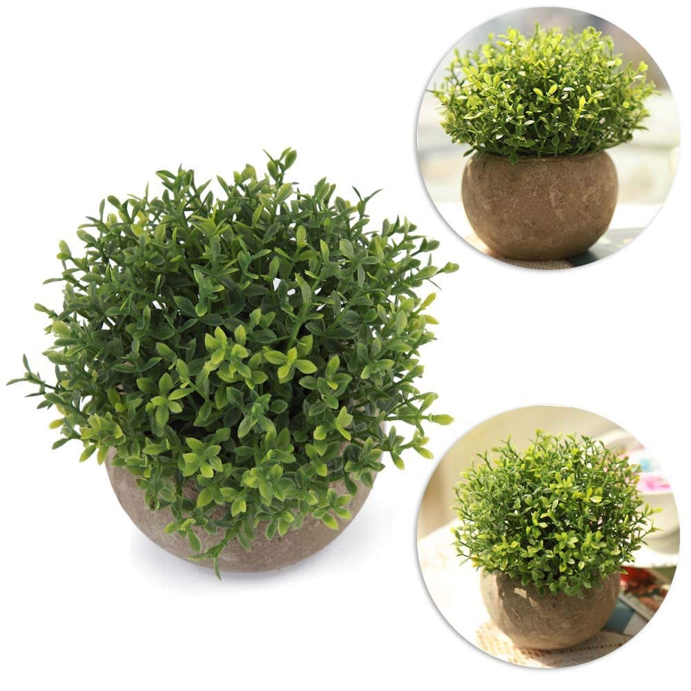Retro Fake Plant Pots Artificial Flower Bonsai for Home Office Decorations