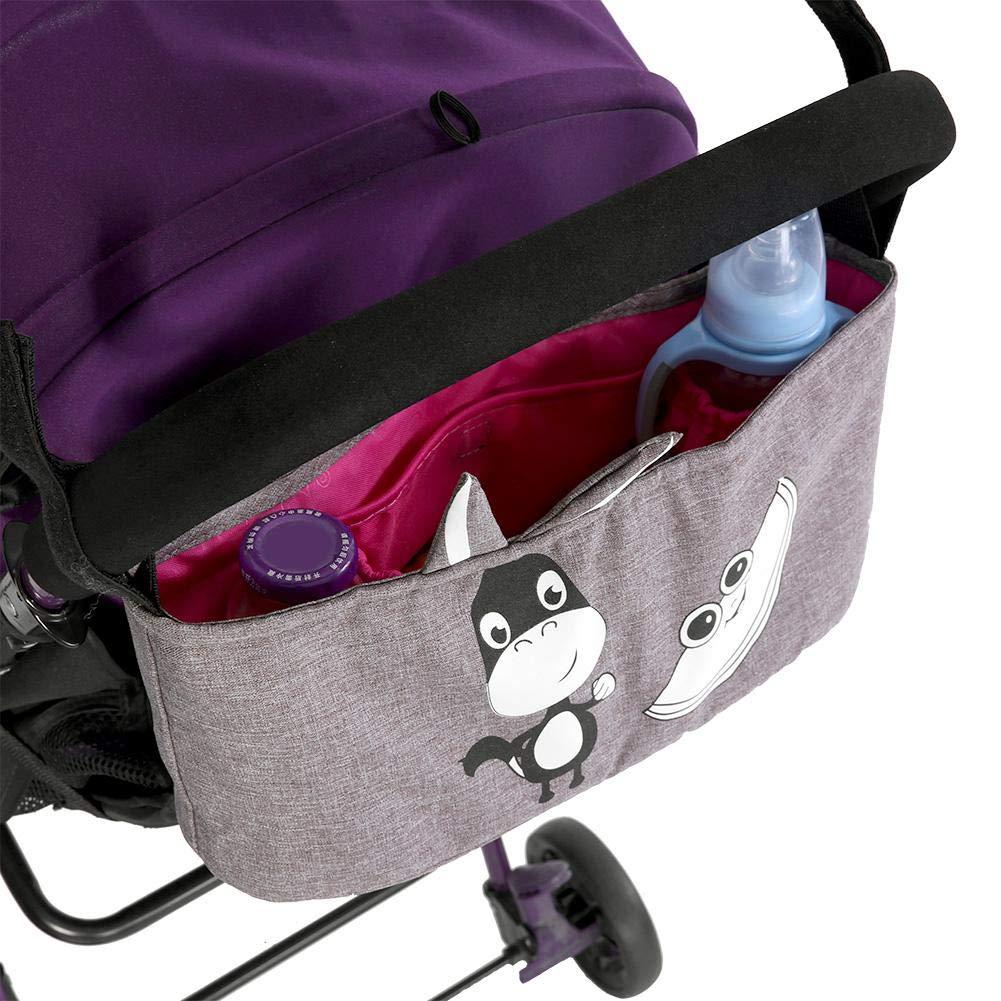 espacio de almacenamiento adicional de gran capacidad para colgar bolsas de pa/ñales para organizar los accesorios para beb/és y sus tel/éfonos #01 Organizador de cochecito de beb/é