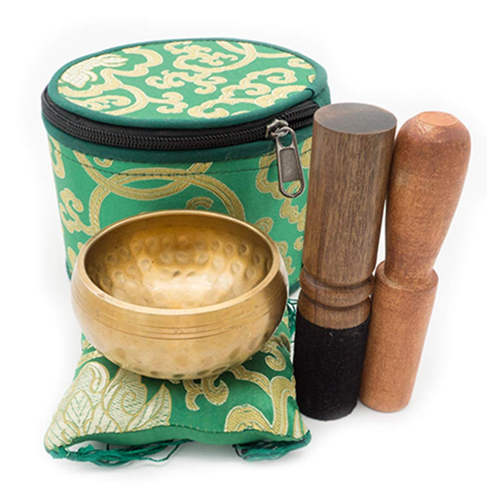 Innovahome Yoga Singing Bowl Set Man-made palm-size 3.14'' Tibetan Spiritual healing Meditation Bowl by Innovahome