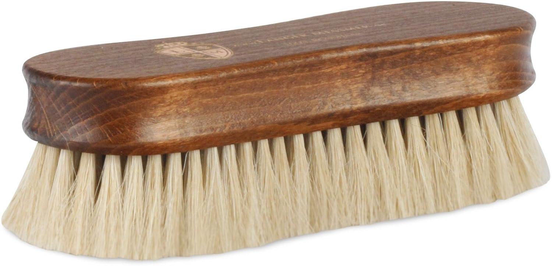 Langer & Messmer Premium Shoe Brush | Cepillo de pulir hecho de crin para pulir tus zapatos: cabello muy denso para obtener mejores resultados de pulido en el cuidado del calzado