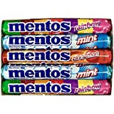 Mentos Variety Pack 15 Count (5 Of Each Flavor) - Mint, Cinnamon, & Rainbow Mentos