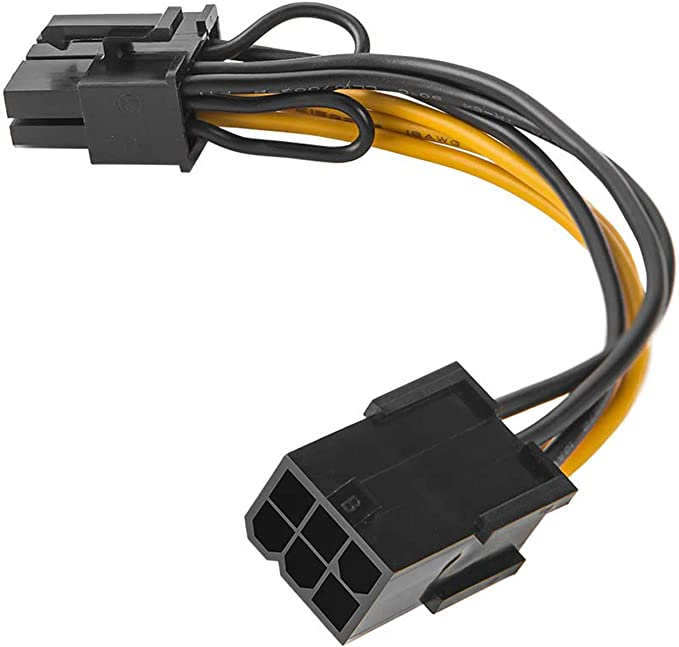 6 to 8 Pin PCI 20cm Express Cable PCIe Grafik Card Power Plugs Adapter CPU AHS