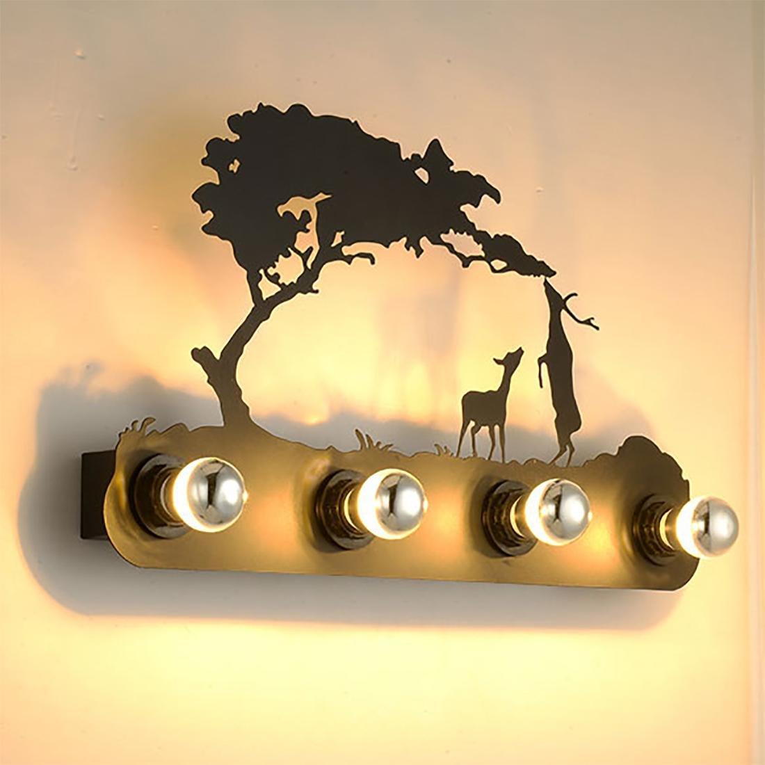 BENJUNLampada da parete europea Stile nordico Semplicità moderna Europa creativa Lampada da parete del salone Camera da letto lampada da parete Lampada da comodino LED cervo luce