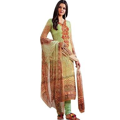 Ladyline Readymade Wedding Partywear Georgette Embroidered Salwar Kameez Suit Indian Dress