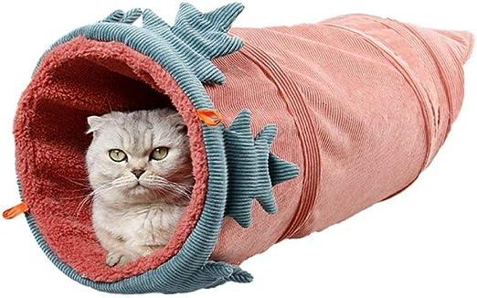 Túneles Para Gatos Artículos Para Gatos Tubos Y Túneles Para Animales Pequeños Pana Divertida Mascota Gato Túnel Juguete 2 Agujeros Contiene El Papel Chirriante Y Cálido En Todo El Invierno @: Amazon.es: