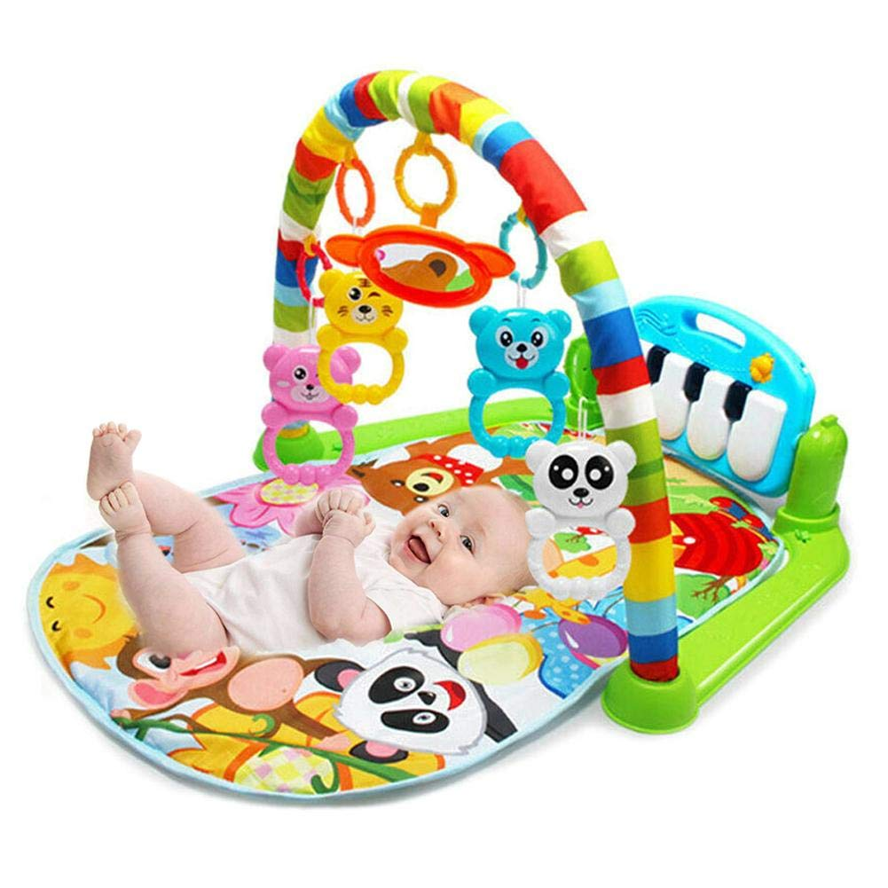 4-en-1 Actividad Musical Gym Baby Play Mat Mat Lay Y Kids Gym Playmat Reci/én Nacido Baby Play Mat con M/úsica Y Sonidos Baby Gyms Y Activity Play Mat Kapokilly Kick and Play Piano Gym