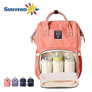 610b1498578f9 Amazon.com   Sunveno Mummy Maternity Nappy Bag Brand Large Capacity Baby Bag  Travel Backpack Desiger Nursing Bag for Baby Care(Orange)   Baby