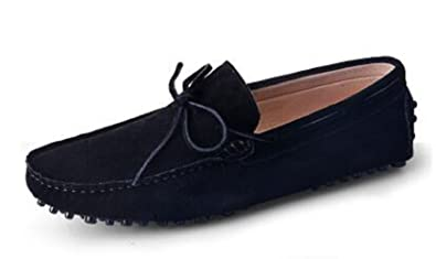 e21bc536f64 HAPPYSHOP(TM Suede Leather Mens Moccasin Comfort Slip 0N Tassel Loafer  Driving Shoes (38