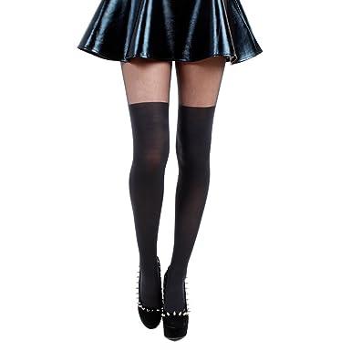 63a0bbac3c2e6 Pamela Mann Plain Over The Knee Tights: Amazon.co.uk: Clothing