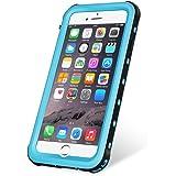 KYOKA iPhone6 iPhone6s 防水ケース 指紋認証対応 防水 耐震 防塵 耐衝撃 IP68 アイフォン6s 防水ケース 防水カバー iPhone6/6s, ブルー