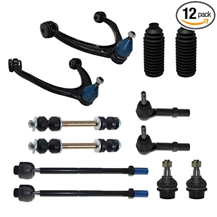 Detroit Axle - 12-Piece Front Suspension Kit - Torsion Bar Only - 2 Upper  Control Arm & Ball Joints, 2 Lower Ball Joints Fit Steel Control Arms Only,