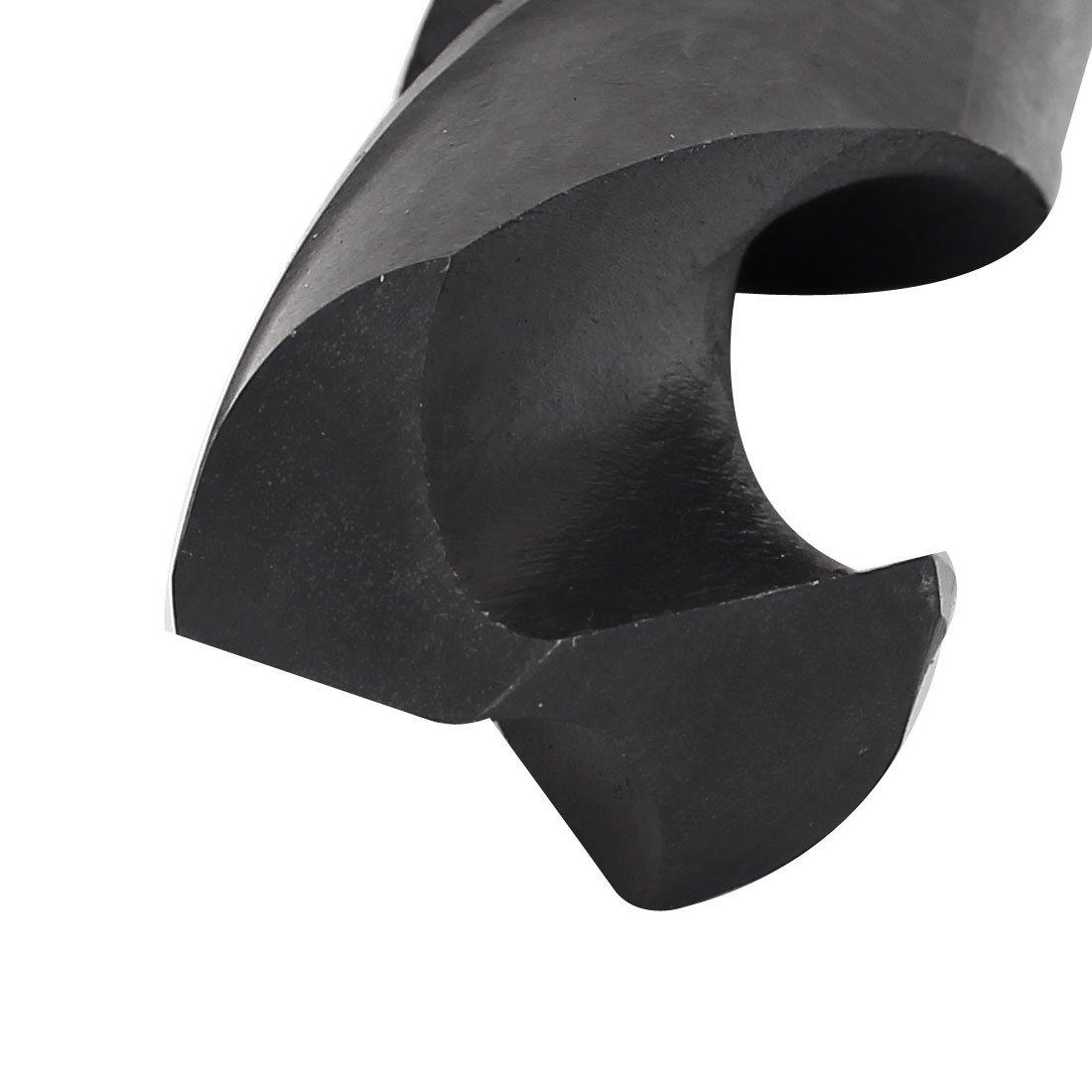 uxcell 29.5mm Cutting Diameter 1//2-inch Straight Shank HSS 6542 Twist Drill Bit Black