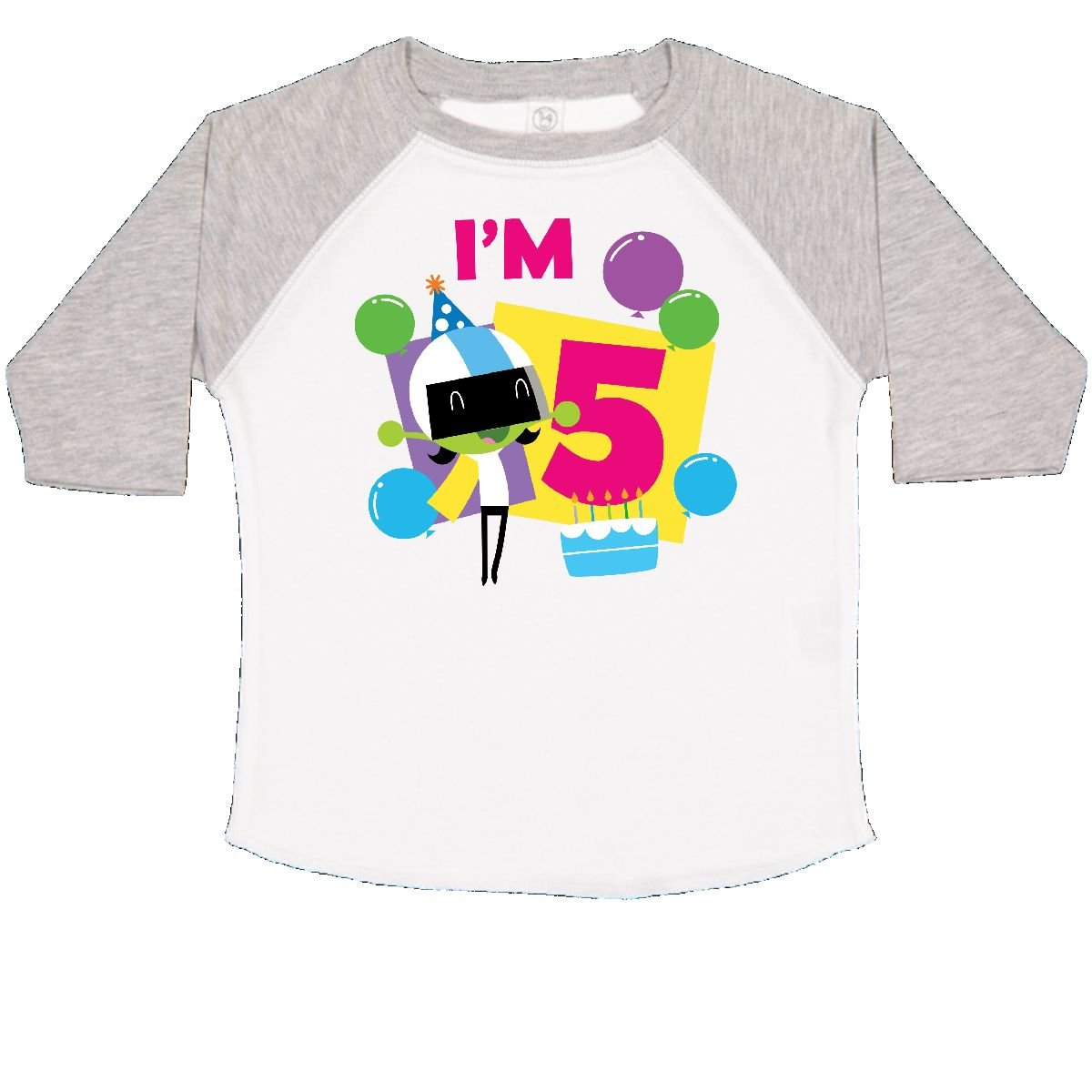 inktastic Im 5 with Dee and Balloons Toddler T-Shirt PBS Kids