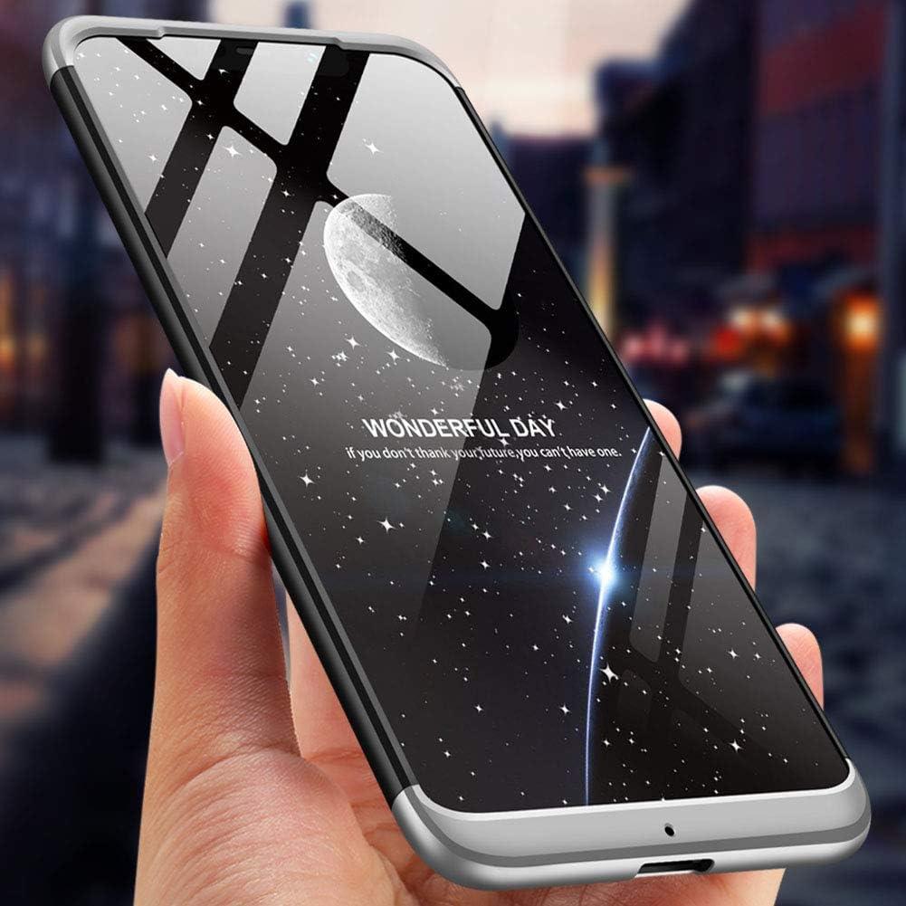 Panzerglas kompatibel mit Samsung Galaxy A5//A8 2018 Hart PC Schutzh/ülle 3 in 1 Full Body Rundumschutz Sto/ßfest Ganzk/örper Bumper Handyh/ülle Hardcase Cover,Blau Schwarz Karomenic 360 Grad H/ülle