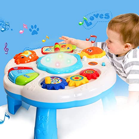 Lorenlli Mesa de Aprendizaje Musical Juguete para bebés con Sonido ...