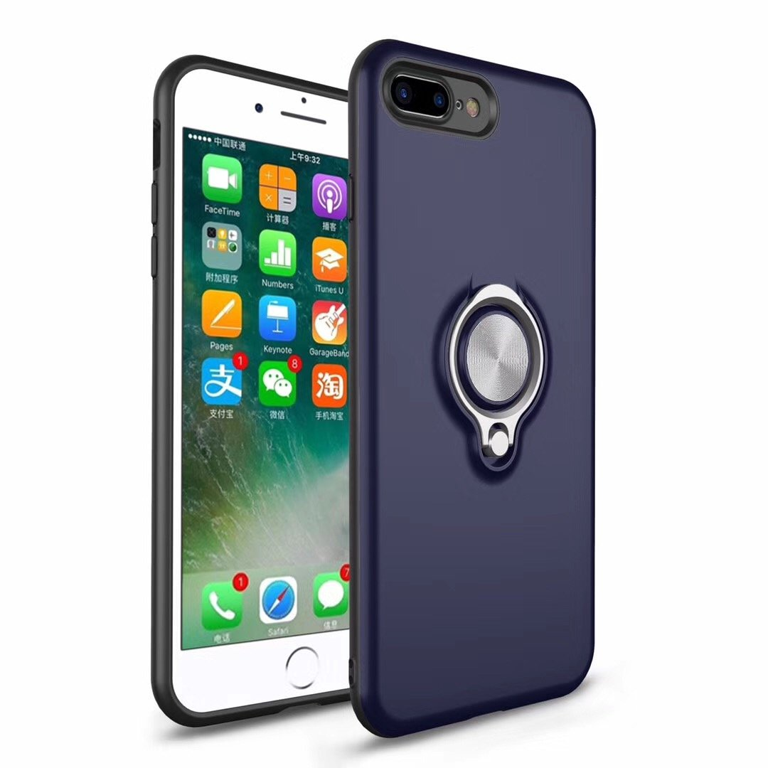 Cover for iPhone 6 Plus Case, 2 in 1 360 Degree Ring Stand Dual Layer TPU Silicone Rubber Bumper Shockproof Support Magnetic Car Mount Holder Thin Case for Apple iPhone 6s Plus (4, iPhone 6 Plus) by 22miter