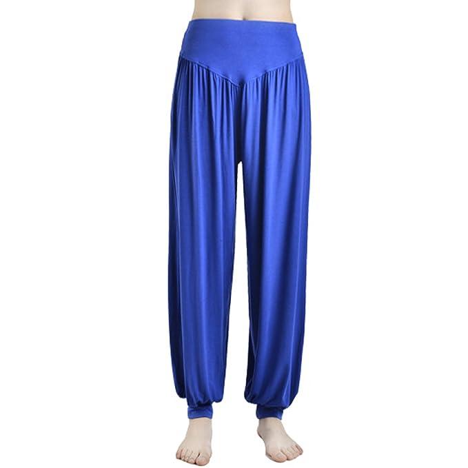 JLTPH Mujer Pantalones de Yoga Anchos Sólido Color Largos ...