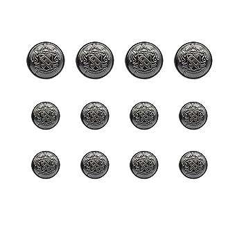 12 piezas antiguo escudo Metal Blazer botón Set - mujer ...