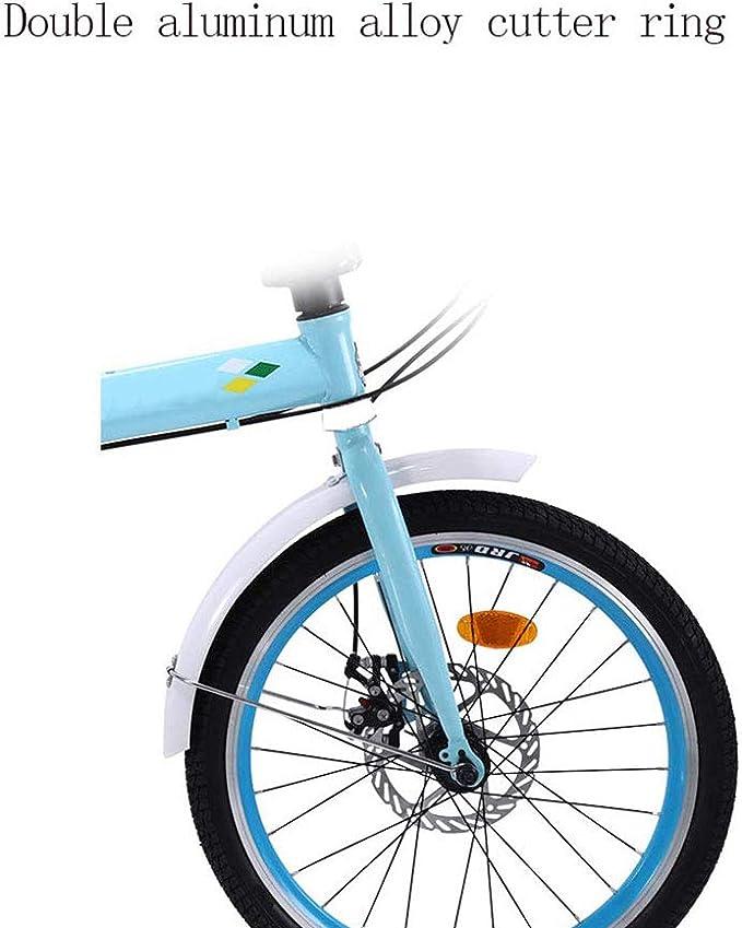 YEDENGPAO Marco De La Bicicleta Plegable-Aluminio Ligero Genuino De 7 Velocidades, Bicicleta Plegable con Las Defensas, 16