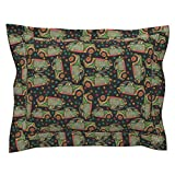 Roostery Art Car Standard Flanged Pillow Sham Every Day Parade by Whimzwhirled Natural Cotton Sateen Made