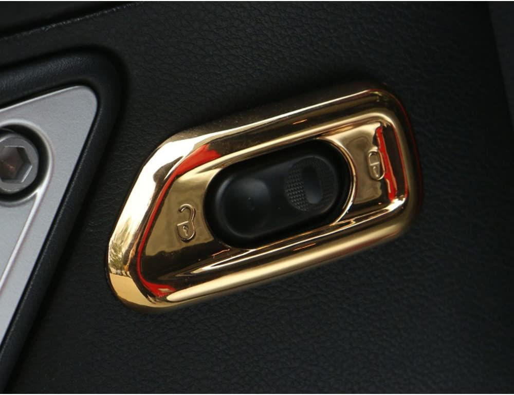 Black Highitem 2PCS Car Interior Door Handle Lock Switch Button Cover Frame Trim Panel Decoration car Covers Fits for Jeep Wrangler JK 2011-2015