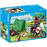 PLAYMOBIL Biker at Camp Site Playset