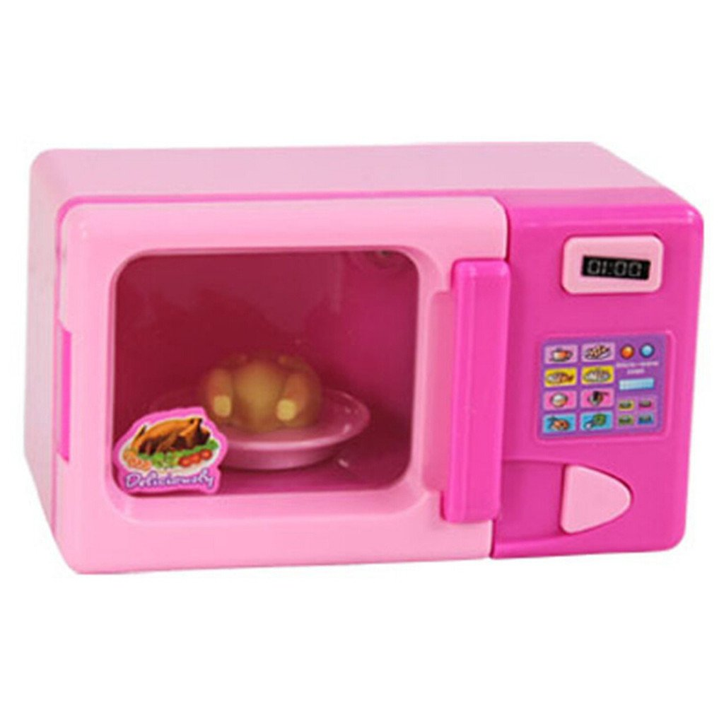 Plastic Simulation Microwave Oven Home Appliance for Kids Role Play Toys