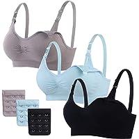 MoneRffi Sujetador de Lactancia para Mujeres de Maternidad Sujetadores de Embarazo inalámbricos sin Costuras Sujetadores…