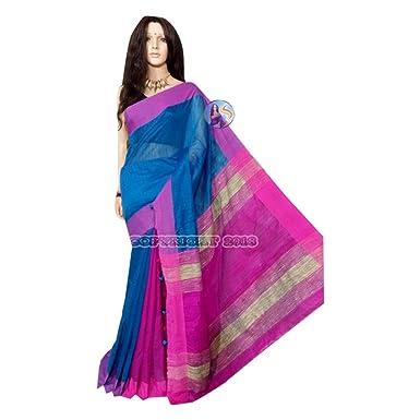 Clothing, Shoes & Accessories Multicoloured Cotton Silk Saree Indian Designer Collection Sari 111a