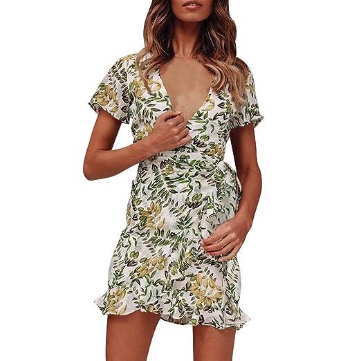 Amazon.com: Fainosmny Women Dress Plus Size Jumper Dress Loose ...