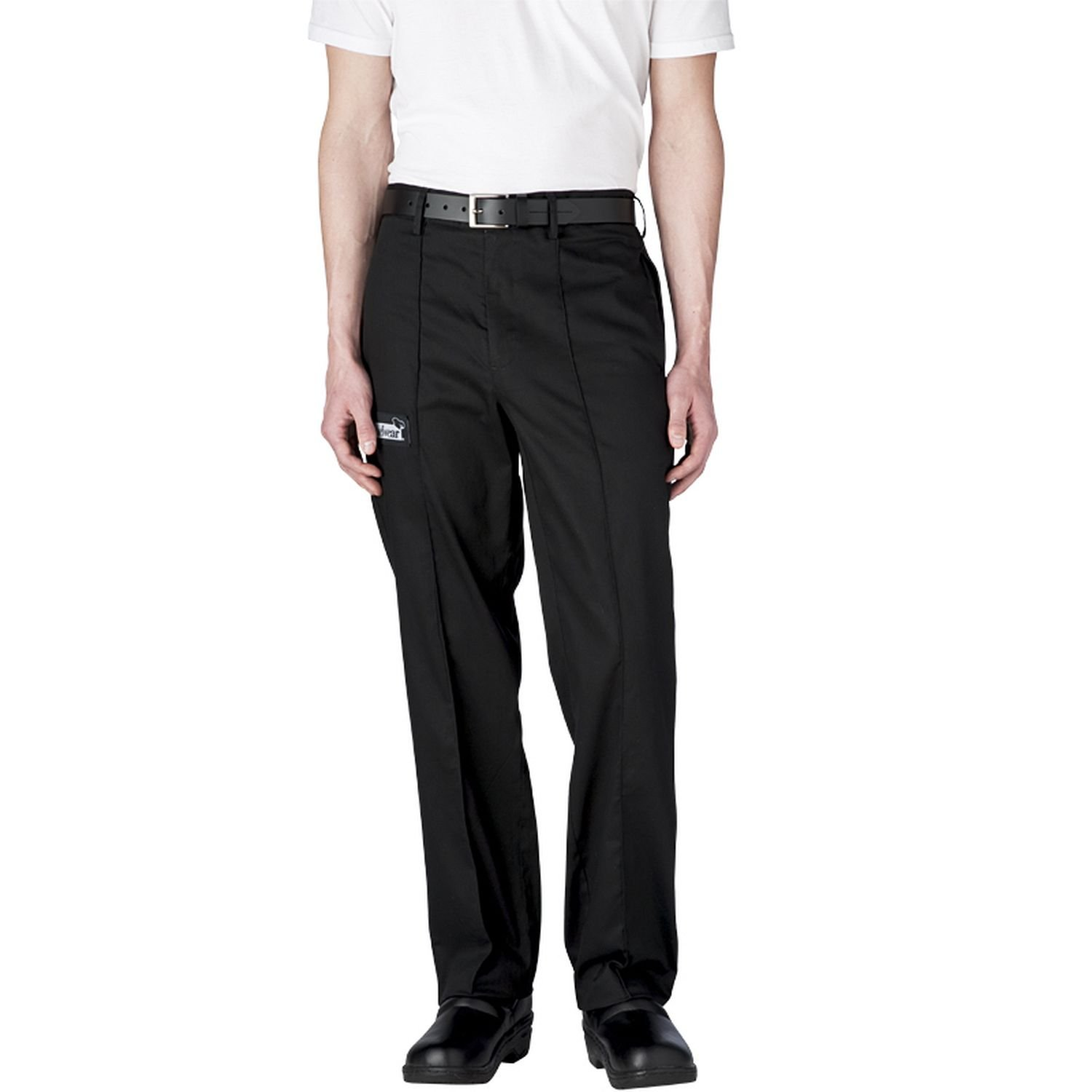 Chefwear Tailored Cotton Chef Pants 5X-Large Black by Chefwear