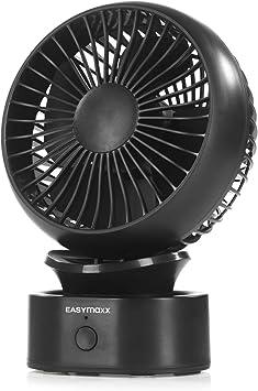 EASYmaxx - Ventilador de mesa mini USB, inalámbrico, pequeño ...