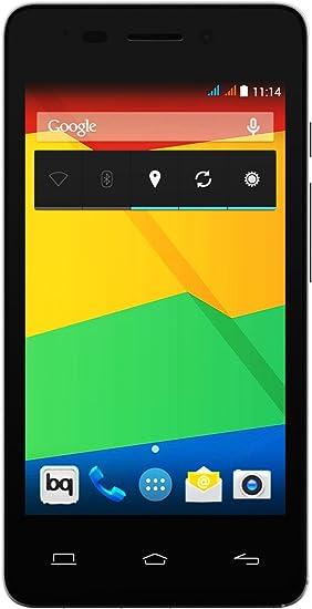 BQ Aquaris E4 - Smartphone de 4 pulgadas (3G, HSPA y WiFi 802.11 b/g/n, Bluetooth 4.0 NFC HCE, GPS, 1 GB de RAM, memoria interna de 8 GB), negro y blanco: Amazon.es: Electrónica