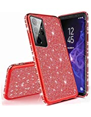 Miagon for Samsung Galaxy S21 Ultra Glitter Case,Electroplating Bling Diamond Soft Gel TPU Silicone Shockproof Protective Shiny Sparkle Case Cover