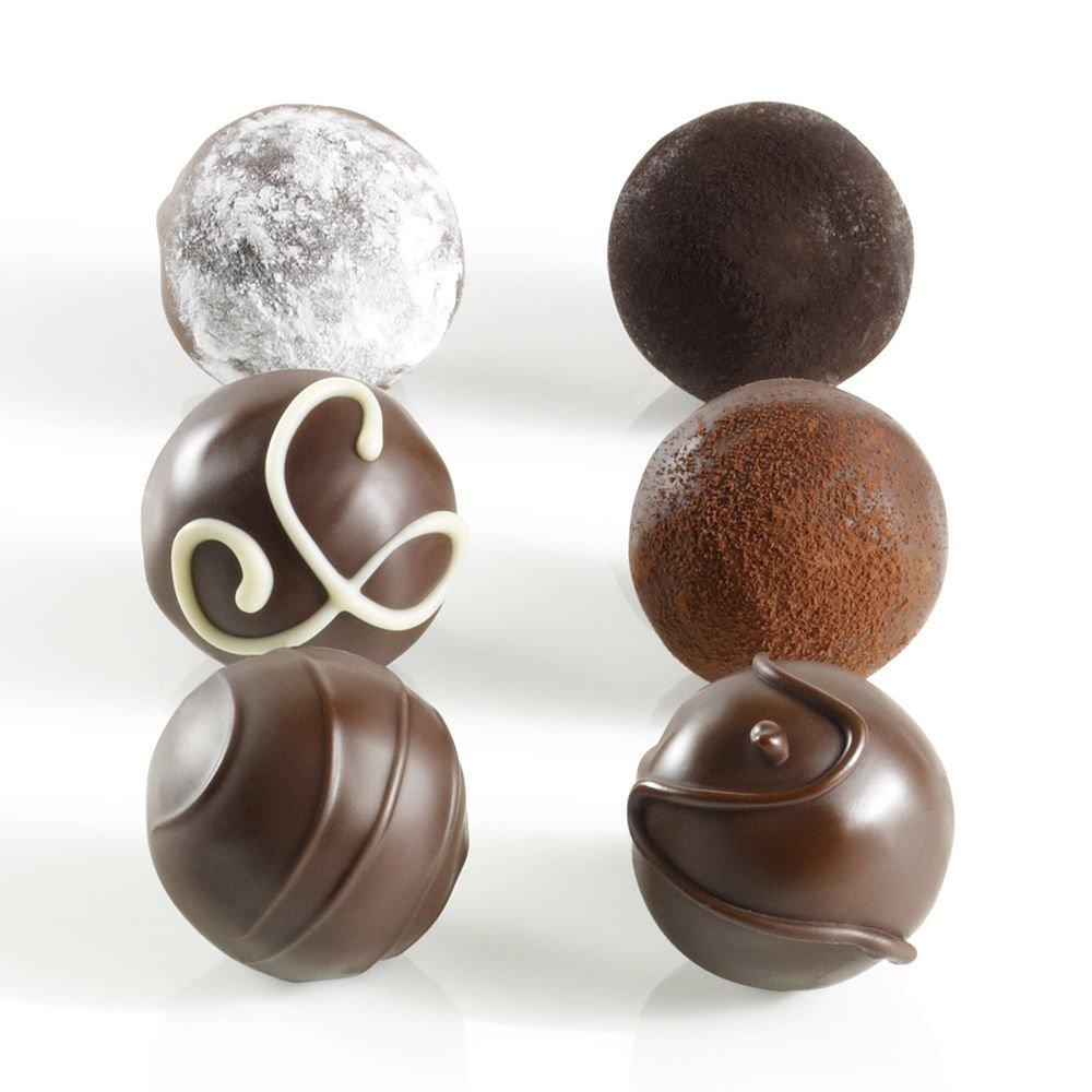 Godiva Chocolatier Assorted Dark Decadence Truffle Flight, Great for Gifting, Dark Chocolate Truffles, 6 pc by GODIVA Chocolatier (Image #2)