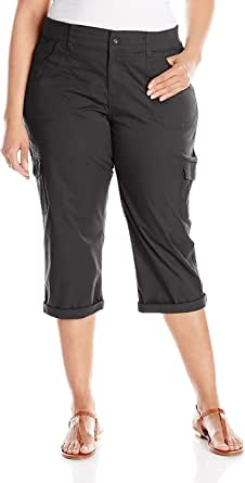 Lee Women's Plus-Size Relaxed Fit Austyn Knit Waist Capri