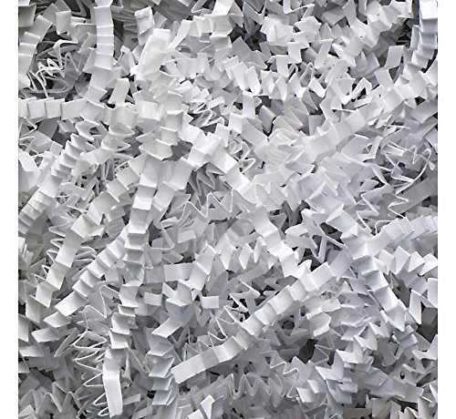 10 lb Natural Crinkle Cut Eco-Spring Fill, Filler for Packing Gift Baskets and Boxes. ~Box of 10 LB ~ White - Good Value Paper Shred Filler (Eco File)