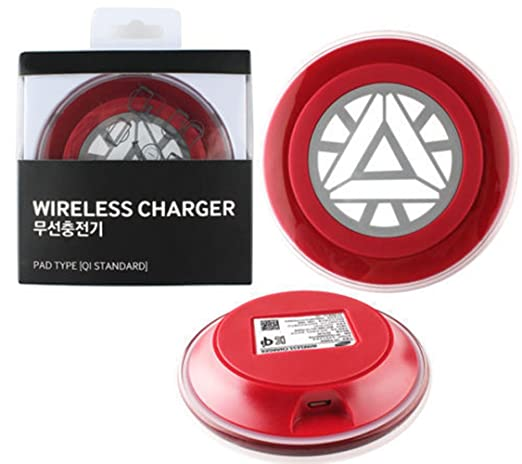 Iron Man Limited Edition Wireless Charger Charging Pad for Galaxy S6 G925s G920f