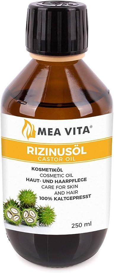 MeaVita Aceite De Ricino - 100% Puro Aceite Prensado En Frío, De Primera Calidad, 1 Paquete (1 X 250 Ml) 250 ml: Amazon.es: Alimentación y bebidas