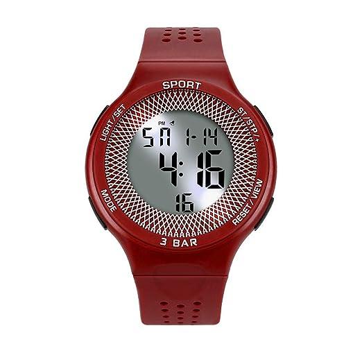 Reloj digital para hombre DYTA LED, deportivo, 5 ATM, resistente al agua,