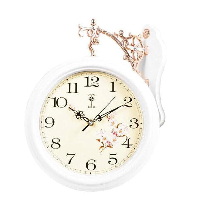 ca48b19de0120 Amazon.com: Qweretyiuoip Clock Living Room Creative Double-Sided ...
