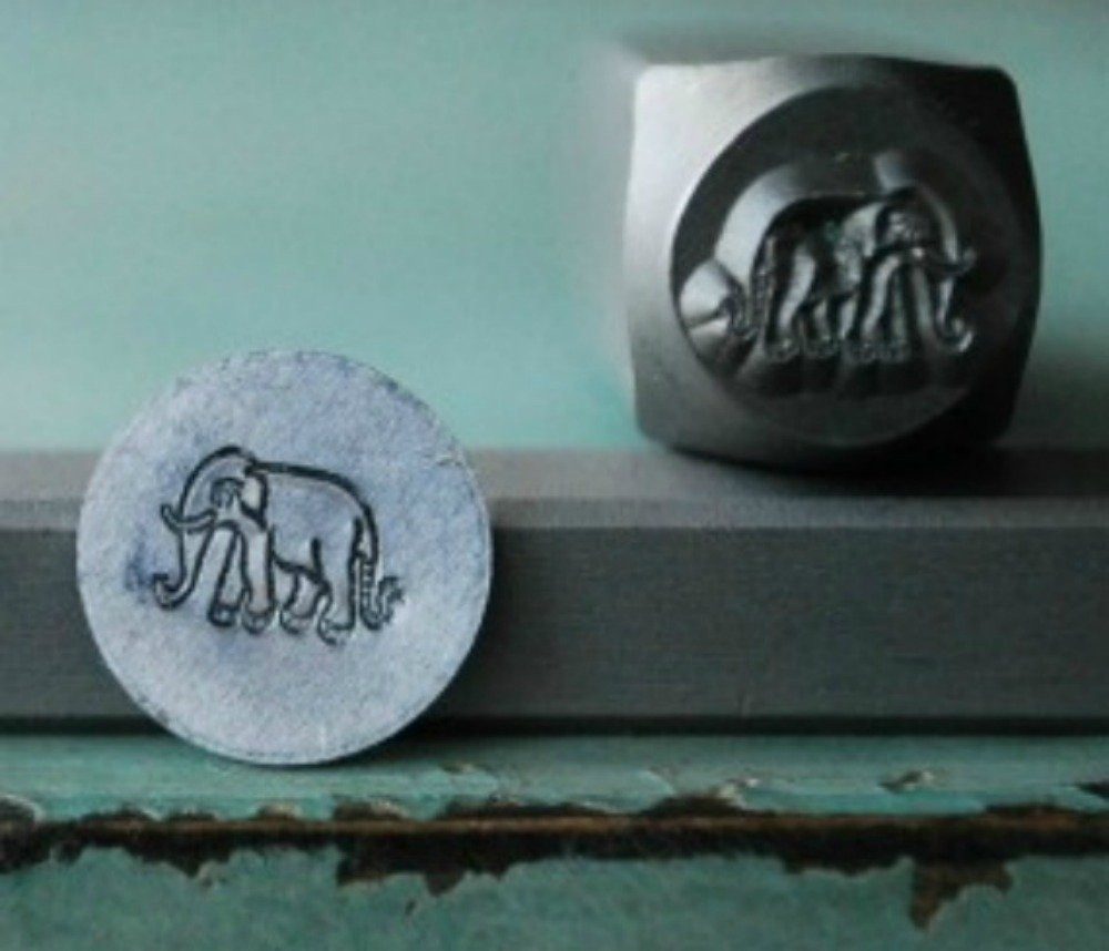 8mm Elephant Metal Punch Design Jewelry Stamp