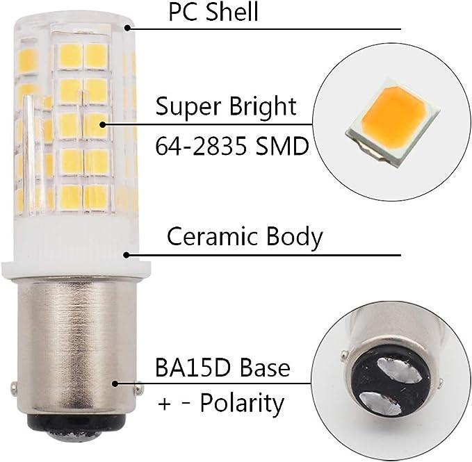 GRV BA15D 1142 1076 64-2835 SMD LED Lights Bulbs 4W AC//DC 12-14V High Bright Bulbs Car RV Truck Tail Lights Cool White Pack of 2