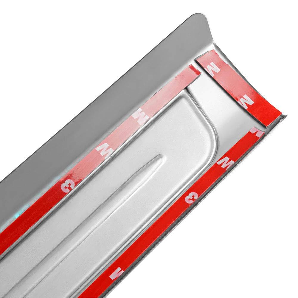Leesville New 2016-2018 for Honda Civic Door Sill Protector Acrylic External Inner 4 Pcs Door Sill Scuff Protector Nondestructive Installation Car Door Sill Scuff Plate red LED External 4 pcs