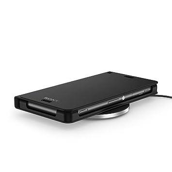 Sony WCR14 - Kit de carga inalámbrica para Sony Xperia Z3 (Cargador por inducción WCH10 + Tapa de carga inalámbrica WCR14), negro