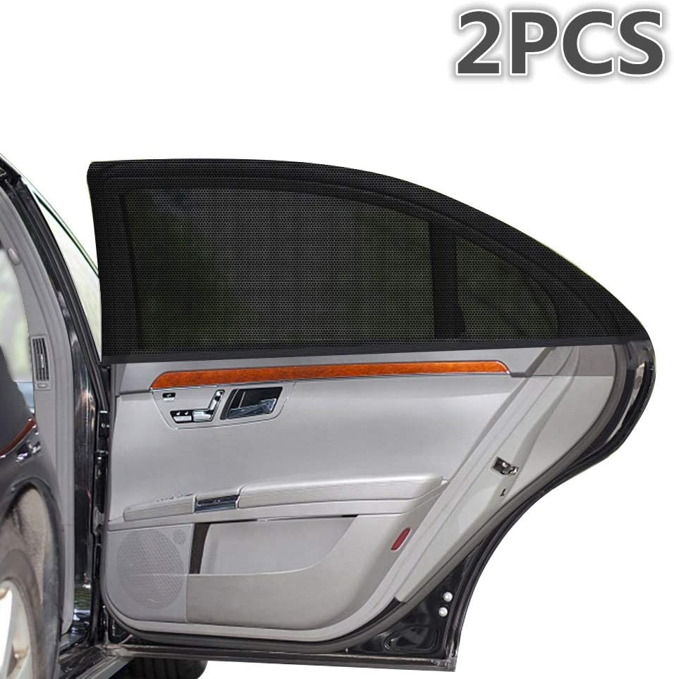2pcs /… for Baby Car Sun Shades-Universal Full Coverage SUV//Sedan Rear Side Windows Absorbs Over 90/% Suns UV Ray Children YAWALL Car Window Shades Kids and Pets-Premium