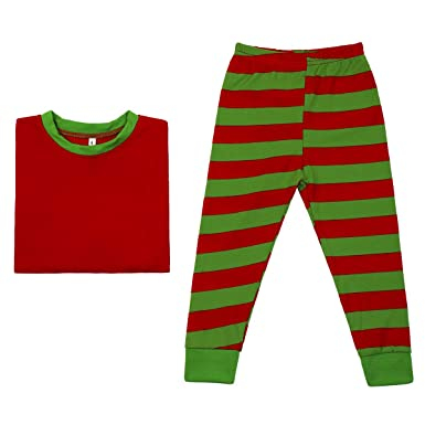 9db4b6d823 IWEMEK Christmas Family Matching Clothes Pajama Set Mommy Daddy Daughter  Son Striped Top and Pants 2Pcs