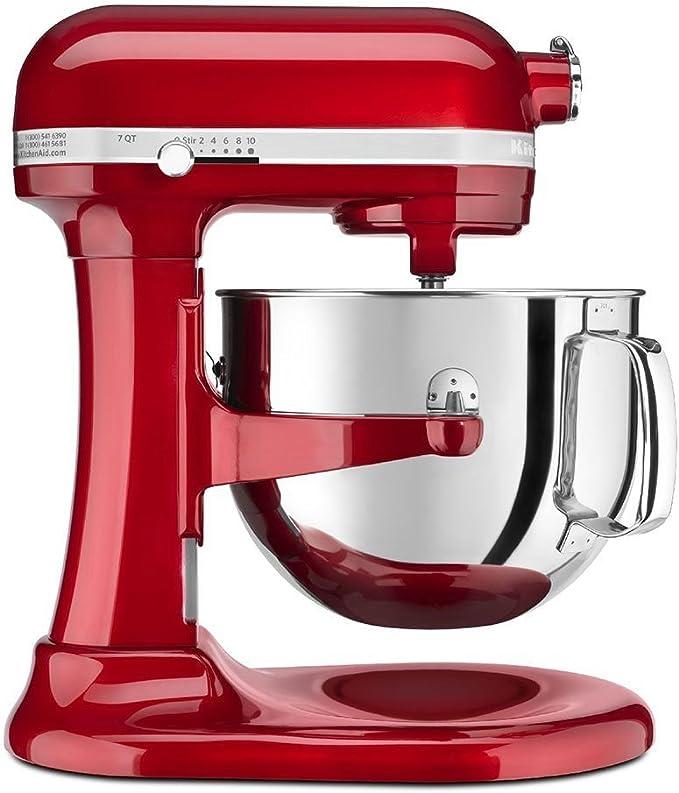 KitchenAid KSM7586PCA Mezclador de 7 cuartos de galón, color rojo manzana: Amazon.es: Hogar